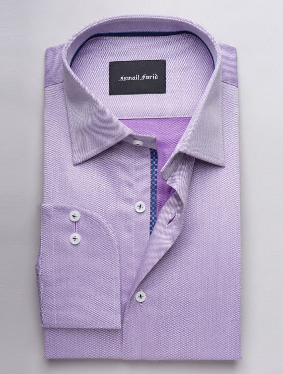 LILAC TEXTURED DRESS SHIRT