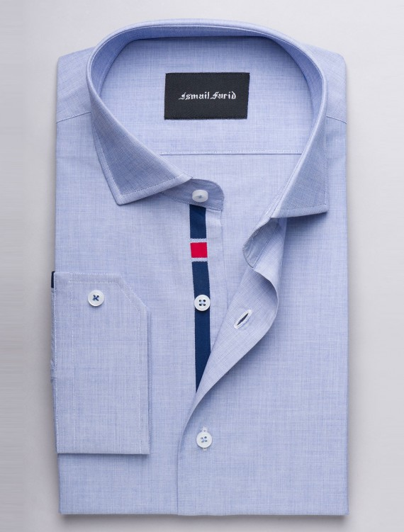 BLUE END ON END TEXTURED SHIRT