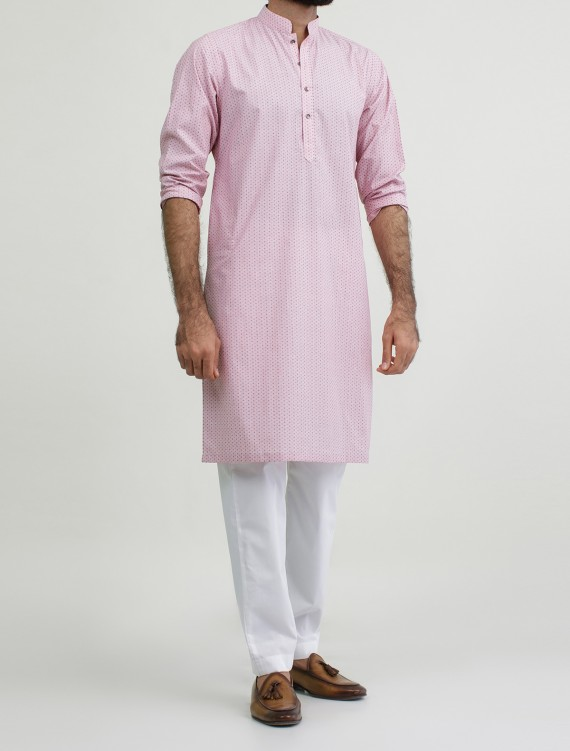 LIGHT PINK DOBBY KURTA