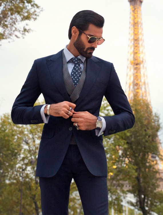 CLASSIC NAVY BLUE TWO BUTTONS SUIT
