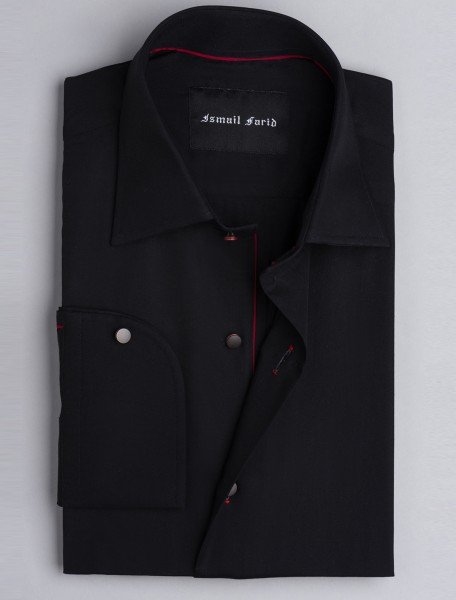 BLACK SMART CASUAL SHIRT