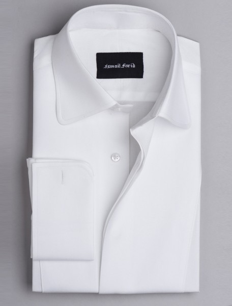 WHITE BIB FRONT SHIRT