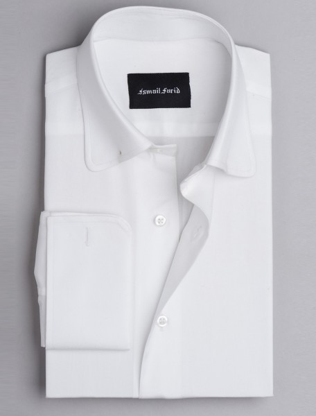 WHITE COLLAR PIN SHIRT
