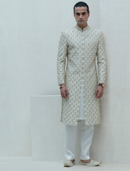 LIMITED EDITION SHERWANI CRAFTED WITH INTRICATE HAND EMBROIDERY