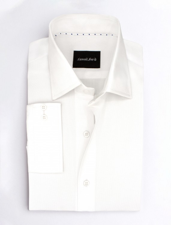 WHITE BUSINESS CASUAL SHIRT