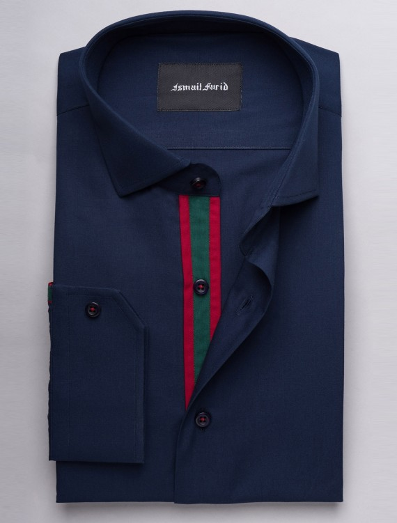 NAVY SMART CASUAL SHIRT