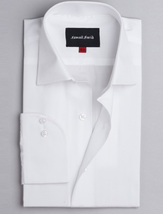WHITE BUSINESS FORMAL CLASSIC COLLAR SHIRT