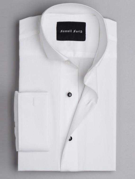 WHITE EVENING WEAR WING COLLAR