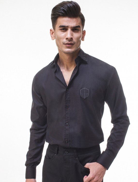 BLACK PATCH SHIRT