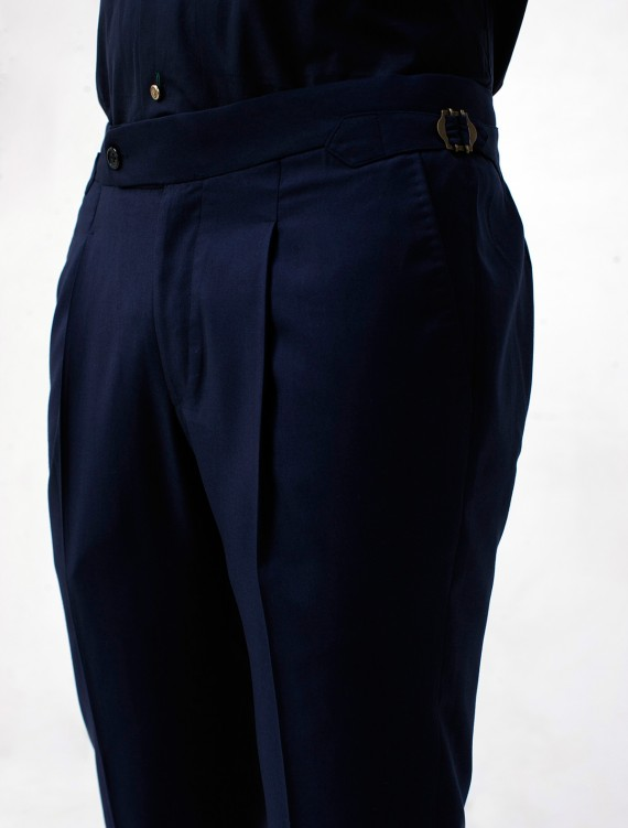 NAVY BLUE BUCKLE PANT