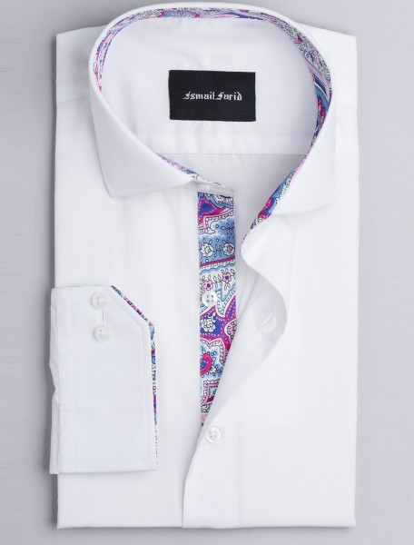 WHITE - FLORAL DETAILED SHIRT