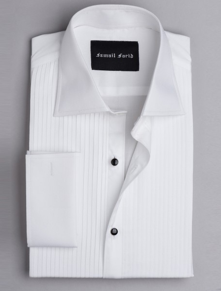 FRONT PLEATED EVENING SHIRT